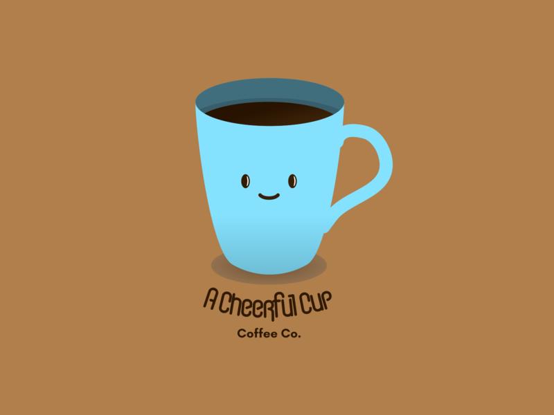 A Cheerful Cup Logo dailylogochallenge branding flat icon vector logo