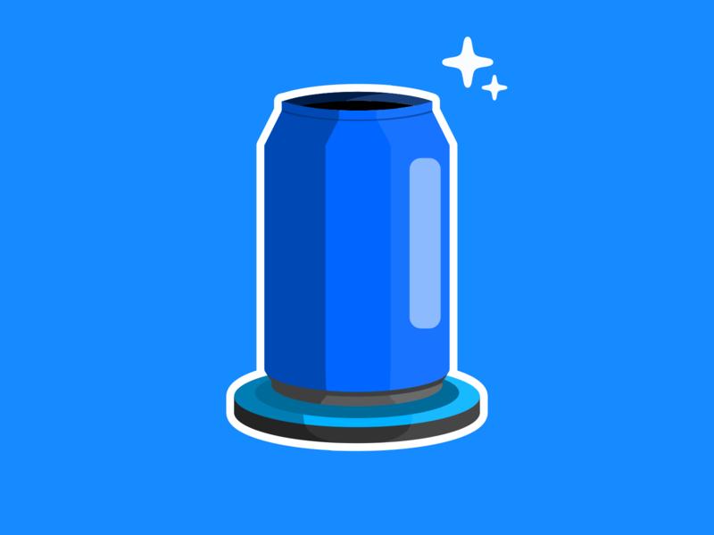 Sparkling Soda sticker soda blue design flat illustration icon vector