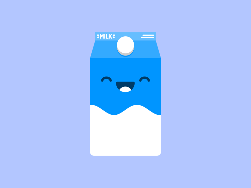 A Cheery Carton milk blue design flat illustration icon vector