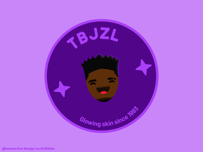 TBJZL tbjzl purple sticker logo design flat illustration icon vector