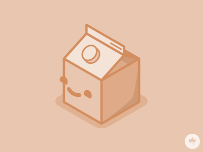 Mini Milk :) monochromatic caramel smile milk branding sticker design flat illustration icon vector