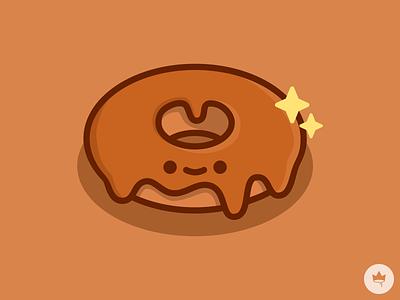 Maple Doughnut brown cute maple doughnut doughnut maple smile sticker design flat illustration icon vector