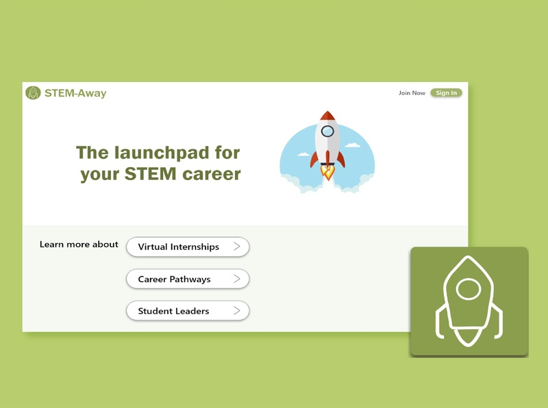 STEM-Away Landing Page webdesign branding logo ui design