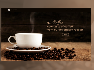 101 Coffee ui design uidesigns design coffee website design web design webdesign website web uidesign ui