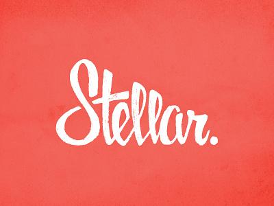 Stellar Round 2 Vector vector logo word mark lettering script text white light texture stellar s t e l a r hand drawn hand-drawn custom