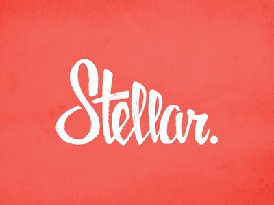 Stellar Round 2 Vector vector logo word mark lettering script text white light texture stellar s t e l a r hand drawn hand-drawn custom