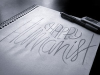 Happy Humanist Lettering