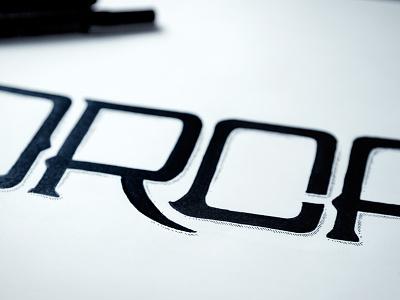 """ORCA"" Lettering illustration marker hand-drawn custom lettering shadow black white pen line o r c a"