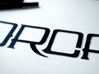 """ORCA"" Lettering illustration marker hand-drawn custom lettering shadow black white pen line o r c a"