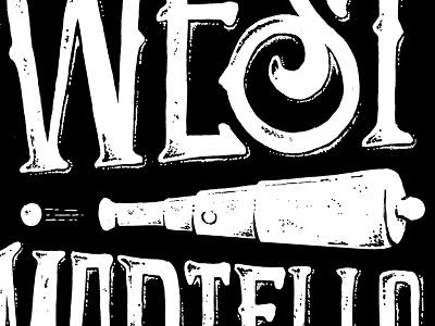 West Martello Key West: Custom Lettering & Illustration white black line marker prismacolor illustration vector texture grunge old time historical landmark vellum cannon key west west martello