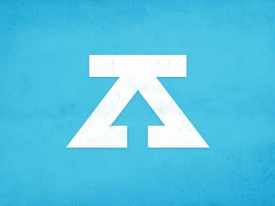 ZDS Personal Mark mark logo vector geometry arrow white blue initials texture illustrator