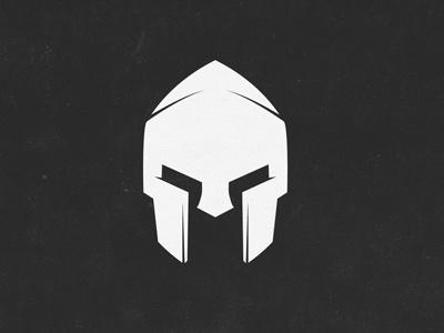 Ares Logo Mark logo warrior spartan helmet simple white charcoal texture