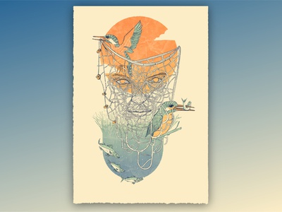 The Fisher King mythology nature drawing art illustration