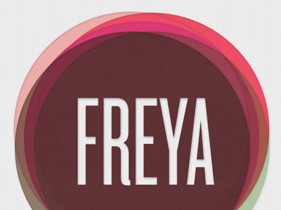 Freya name names type typography circle knockout