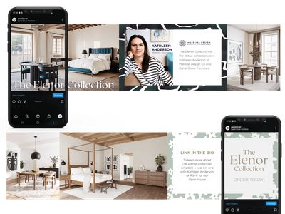 The Elenor Collection social media launch social media mockup branding graphic design