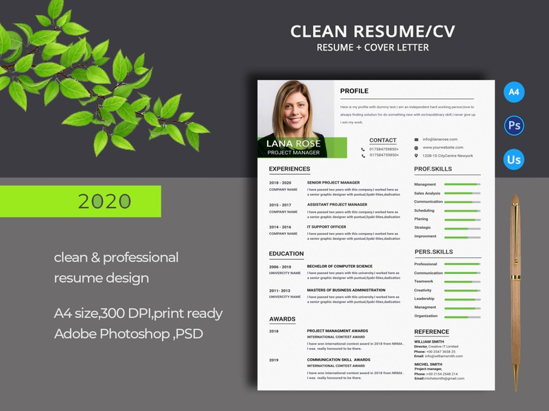 Resume/CV photoshop modern minimalist letter job resume indesign icons hobbies employment design cv template cv curriculum vitae creative clean resume clean cv clean awards award a4