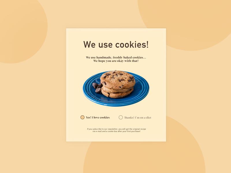 Daily UI_#016_Pop-up / Overlay cookies popup design popupmessage dailyui016 dailyui16 webdesign daily 100 challenge design ui dailyuichallenge daily ui dailyui