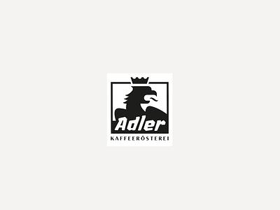 eagle coffee roaster branding crown black lettering modern coffee logo eagle