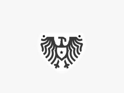 Eagle Shield logo emblem eagle shield