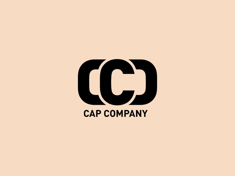 cap company app icon typography fashion flat vector logo design branding initial luxury text monogram