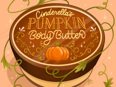 Cinderella Pumpkin Butter self care product autumn branding beauty product product design design princess illustration