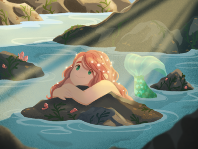 Lagoon Maiden lauren draws mermaid characters characterdesign illustration