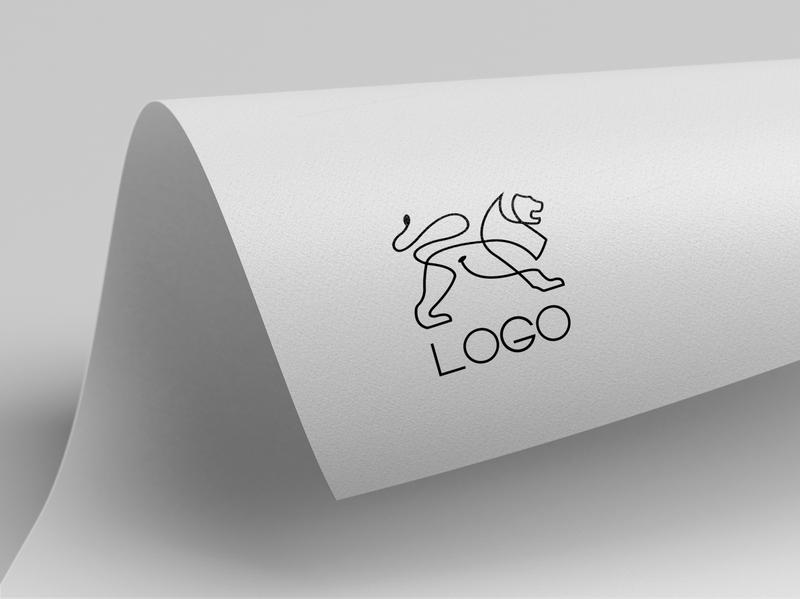 lion logo typography type minimal logo lettering illustrator illustration flat design branding
