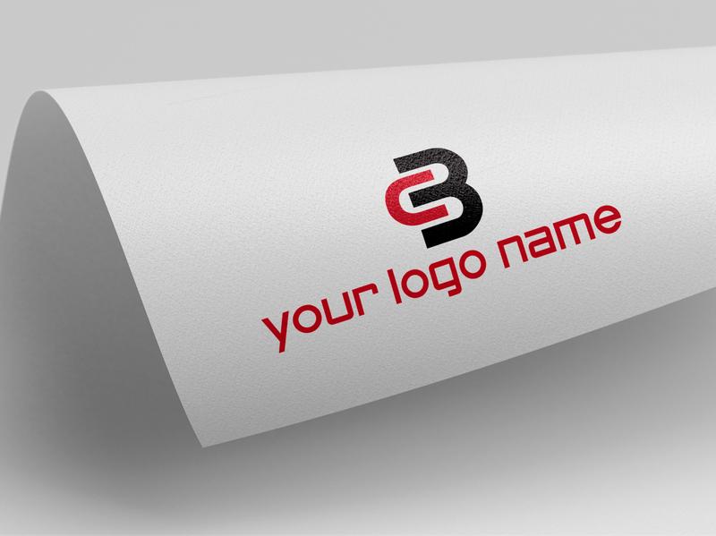 CB logo typography type minimal logo lettering illustrator illustration flat design branding