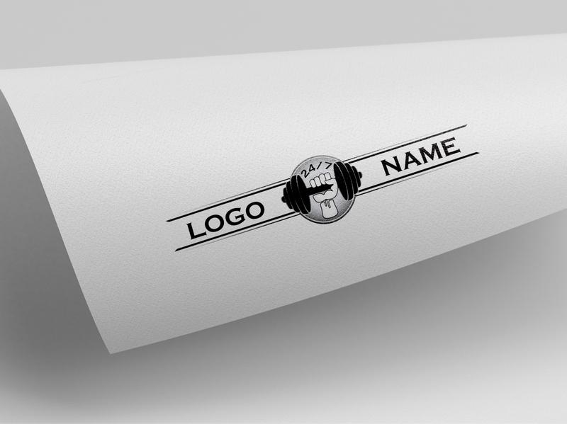 fitness gym logo typography type minimal logo lettering illustrator illustration flat design branding