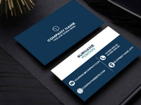 blue business card design mockup business card brand identity logo design minimal branding