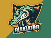 savage alligator mascot design typography mascot character tracing mascot vector illustrator illustration design