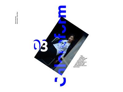 Chloroform type editorial layout white photography minimalism minimal
