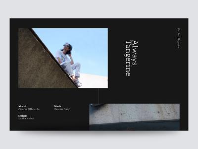 Always Tangerine type editorial layout photography minimalism minimal