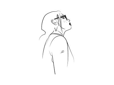 Untrue girl minimal sketch illustration drawing