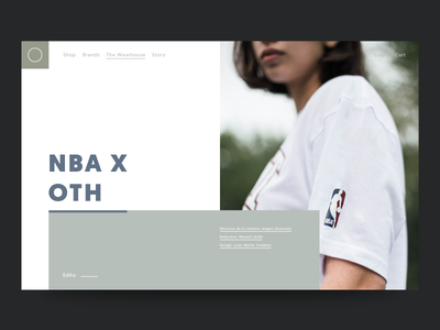 Oth Blog structure shop blog minimal layout feature editorial