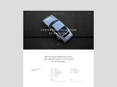 Classic Expertise - Home grid automotive ui structure white layout minimal