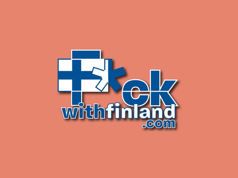 F*ck with Finland (Logo Design   Ad Campaign) social media branding concept logo concept logo design ad campaign logo branding design ad