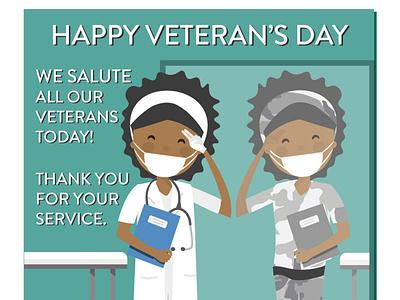 Veteran's Day (Illustration | Print Design | Nonprofit) graphic design volunteer veterans vets nursing design illustration