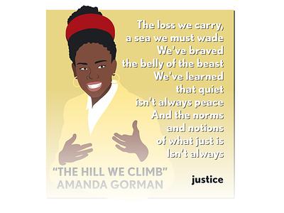 """The Hill We Climb"" by Amanda Gorman amandagorman inauguration design illustration"