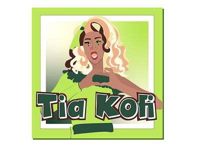 "RuPaul UK Season 2 ""Tia Kofi rupauls drag race drag queen graphic design apparel funny illustration design"