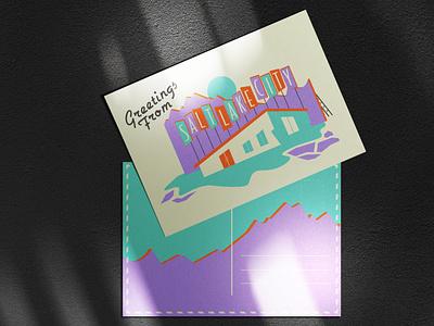 Greetings from Salt Lake City utah salt lake city postcard postcard design graphic design illustration design