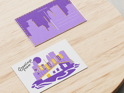 Greetings from Minneapolis graphic designer illustrator minnesota minneapolis vikings weeklywarmup graphic design illustration design