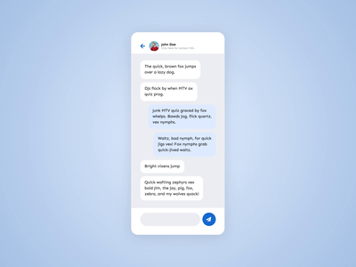 """Interaction - chat """"send message"""" animation after effects video ux ui design ui motion mobile ios interface interaction design interaction gif messaging chat app ui app design app animation animated android"""
