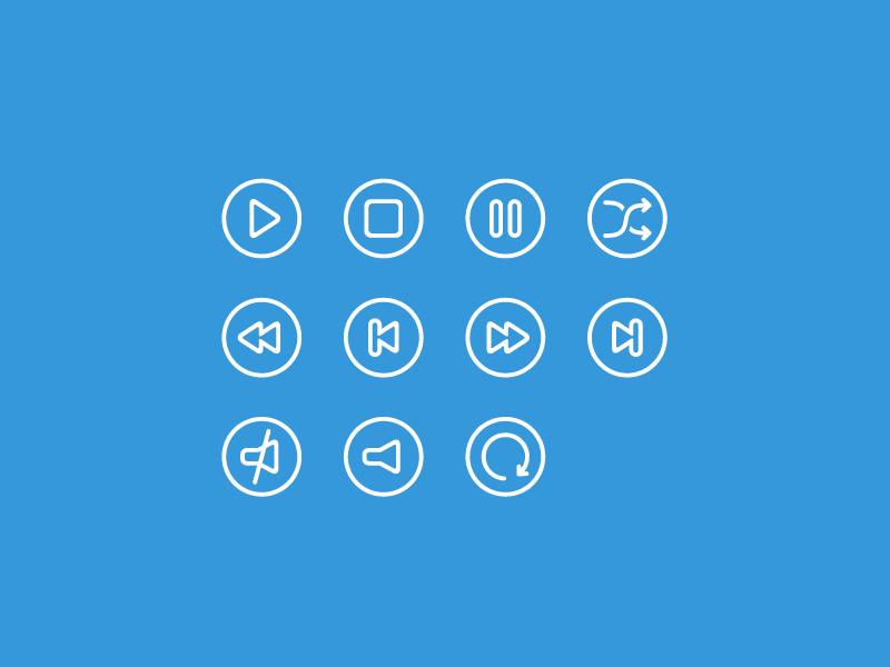 Audio Icons (Free Download) by Daniele De Santis on Dribbble