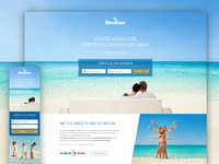 Holiday resorts landing page