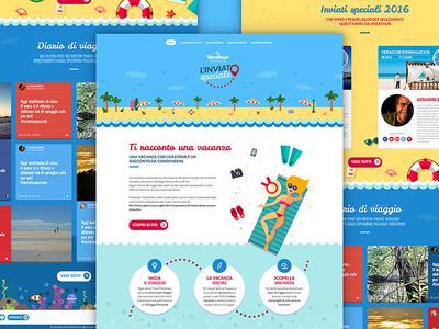 Website sea beach summer ux ui interface layout webdesign web design web website