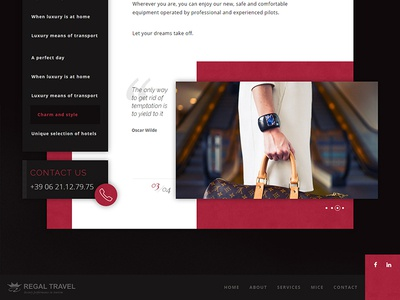 Service page - UI detail development web design webdesign website sidebar carousel interface layout ui css html front-end