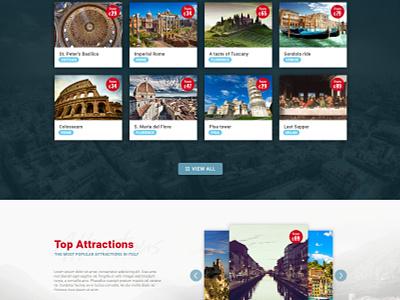 Website redesign travel tourism homepage user ux ui interface design webdesign website web