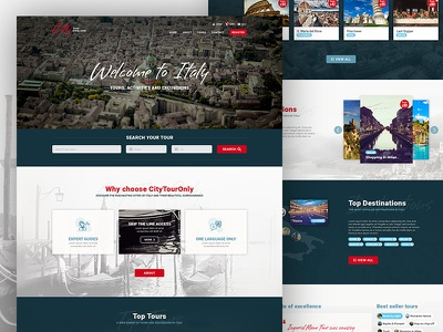 Website redesign travel tourism homepage user ux ui interface design webdesign website web