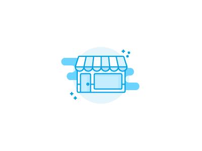 Shop illustration / icon vector sketch draft outline lineart monochrome icons icon illustrator illustration store shop